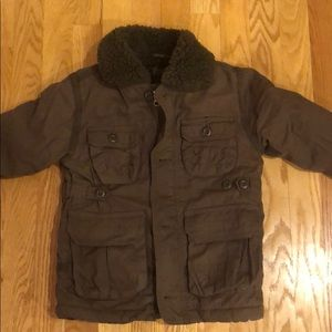 Boys BabyGap Sherpa lined coat 4 years